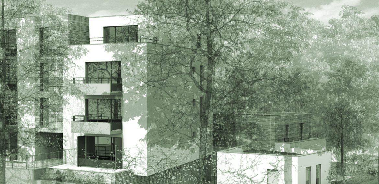 Construction d'un bâtiment de 35 logements Ecoquartier ZAC Biancamaria à Vandoeuvre