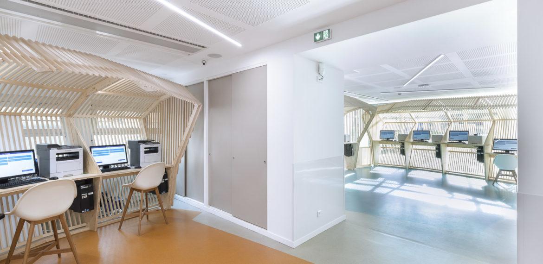 Rénovation des locaux d'accueil du public au siège de la CAF de Nancy